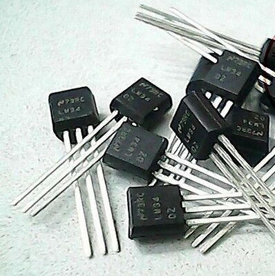 2pcs LM34DZ LM34 TO-92 Precision Fahrenheit Temperature Sensors