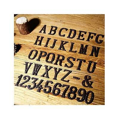 Iron Metal Door Alphabet Letters And Digital Houses Cast Black Black Antique