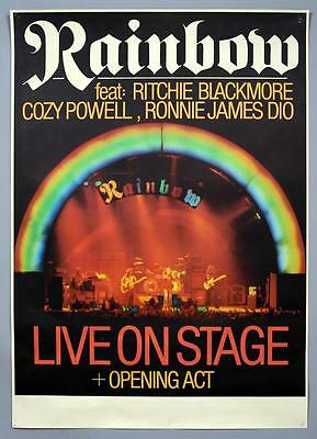 RAINBOW Ronnie James Dio - mega rare original Germany 1977 concert poster