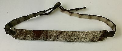 Genuine Crocodile   / ugg   cow fur leather hat band   Brown for Dundee  western