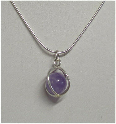 Sterling Silver gemstone necklace -Only $12.50 with chain, $8.50 without chain