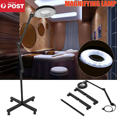 New Magnifying Lamp Glass Lens Round Head 5X Light Magnifie On Stand Tool Beauty