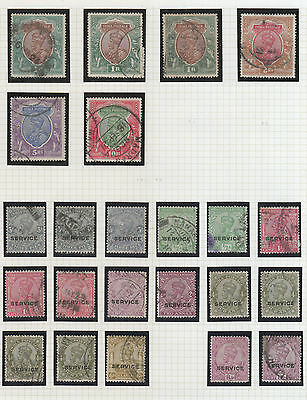 India, King George V  On 3 Pages, See All 3 Scans