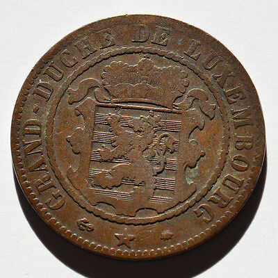 Luxembourg, 10 Centimes 1865, A10293