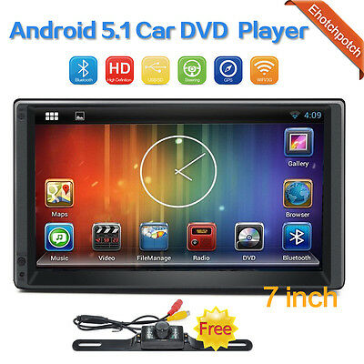 """Quad Core Android 5.1 WIFI 7""""Double 2DIN Car Radio Stereo Player GPS mirror link"""