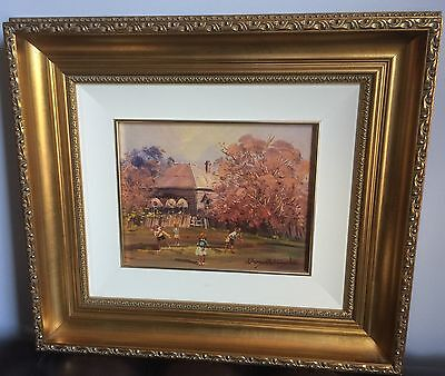 D'Arcy Doyle Original Oil Painting 'The Cricket Game'