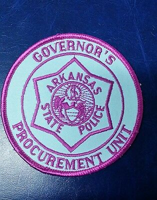 Governor's Procurement Unit Arkansas State Police Shoulder Patch Ar