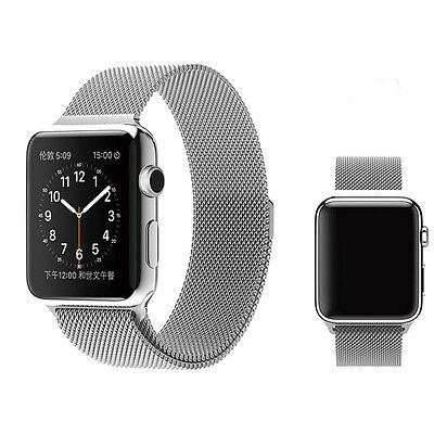 Milanese Magnetic Loop Stainless Steel Band Strap For iWatch 38mm 1st 2nd Gen