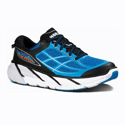 Hoka One One Clifton 2 Men's Running Shoes - Directoire Blue/Flame