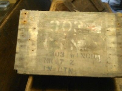 antique wooden army crate