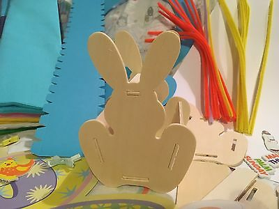 Wooden Bunny Basket To Decorate