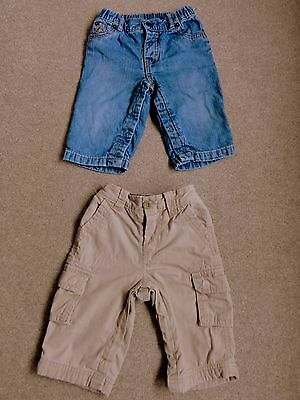 2 Pairs of Baby Gap Trousers/Jeans: Size 6-12 Months
