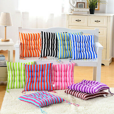 Dining Garden Outdoor Patio Home Kitchen Office Chair Seat Striped Pads Cushions