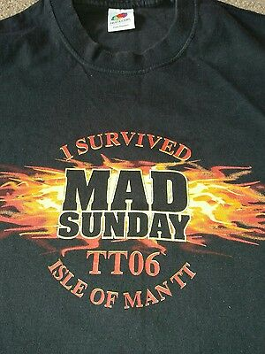Isle Of Man Tt 2006 Mad Sunday T - Shirt-  Size Large