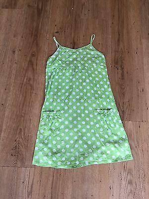 Girls Green And White Summer Dress 9 Years From Next