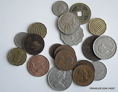 100 Grams  Of Mixed World Coin's General Mix Modern World #pzm30