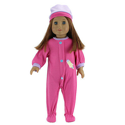 meired Jumpsuits+hat for American girl doll of 18 inch doll accessories