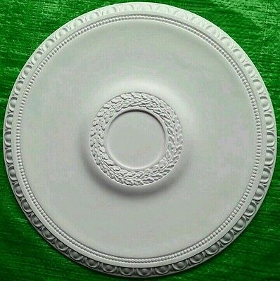 Plaster Ceiling Rose Small Egg And Dart Design 390mm