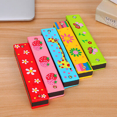 Child Wooden Harmonica Mouth Organ Musical Instrument Educational Music Gift Toy