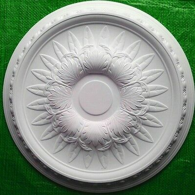 Plaster Ceiling Rose Egg And Dart Floral Design 530mm