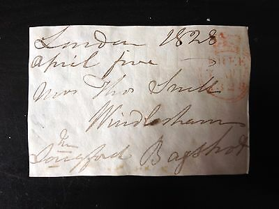 Free Front Dated 1828 - London To Bagshot - Signed Longford