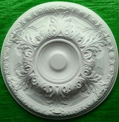 Plaster Ceiling Rose Medium Acanthus Leaf Design 490mm