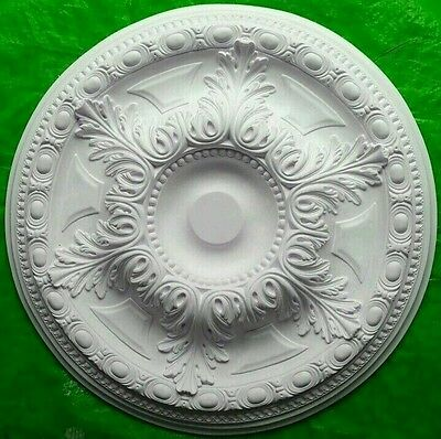 Plaster Ceiling Rose Large Acanthus Leaf Design 582mm