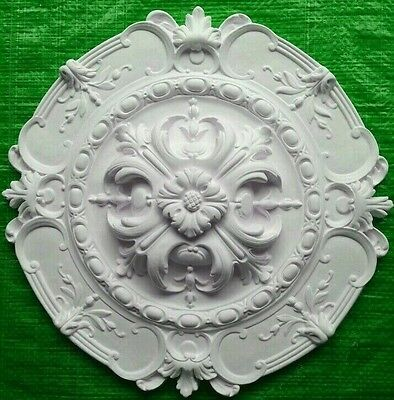 Plaster Ceiling Rose Grand Acanthus Leaf Design 420mm