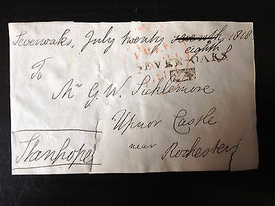 Free Front Dated 1818 - Sevenoaks To Rochester - Signed Stanhope