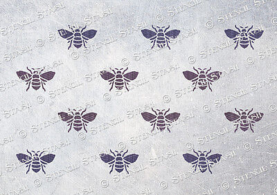 Bee Repeat Pattern STENCIL A4 BR French Chic Vintage Furniture QUALITY 190 Mylar