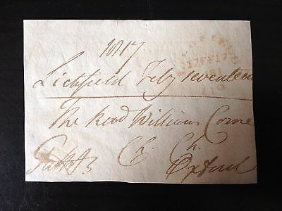 Free Front Dated 1817 - Lichfield To Oxford - Signed ?????