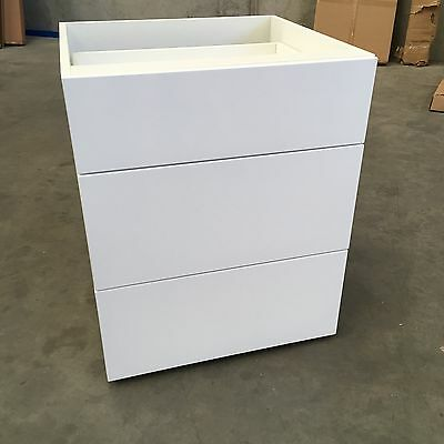 450mm 3 draws base cabinet assembled flat pack kitchen cabinets 2 pack