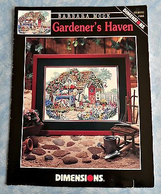 GARDENER'S  HAVEN - Dimensions Cross Stitch Chart by Barbara Mock #284 - 1998 SC