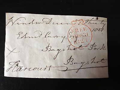 Free Front Dated 1821 - Windsor To Bagshot - Signed Harcourt