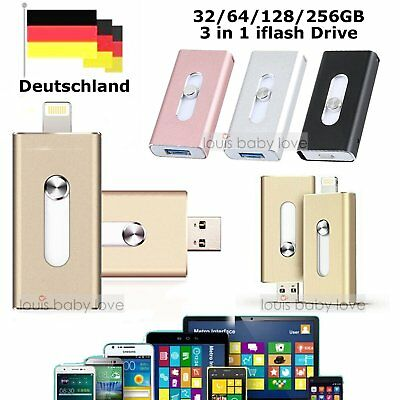 32GB~256GB i Flash Drive OTG Device USB Speicherstick Für iPhone 7 6S 6 Plus 5S