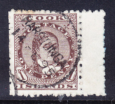 COOK IS 1893 SG5 1d brown P12 x 111/2 - fine used - marginal copy. Catalogue £55
