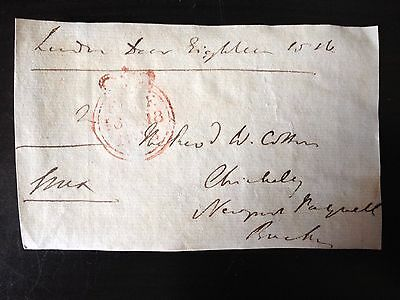 Free Front Dated 1816 - London To Newport Pagnell - Signed Essex