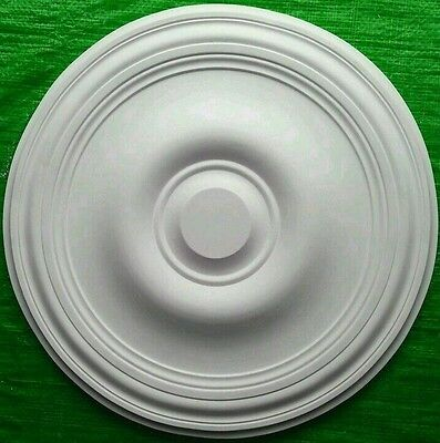 Plaster Ceiling Rose Large Plain Victorian Design 543mm