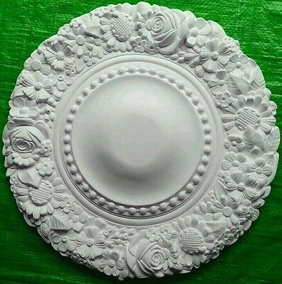Plaster Ceiling Rose Floral Ring Design 485mm