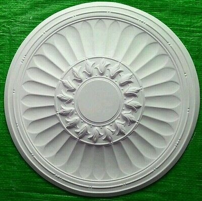 Plaster Ceiling Rose Flute And Rosebuds Design 450mm