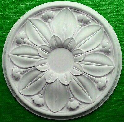 Plaster Ceiling Rose Flower Design 405mm