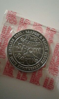 RINGLING BROTHERS 100th Anniversary Token coin *SEALED* MINT 1970-71 COLLECTIBLE