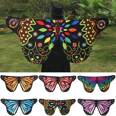 Fabric Soft Butterfly Wings Shawl Fairy Ladies Nymph Pixie Costume Accessory New