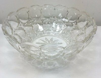 Vintage Art Deco Pressed Glass Trifle Fruit Bowl - Great Shape