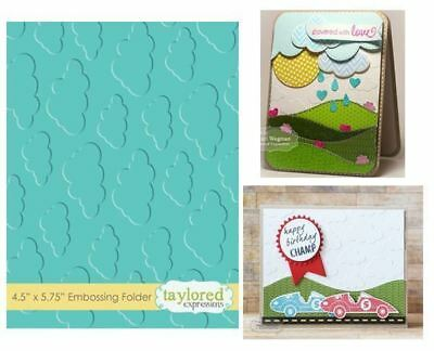 Taylored Expressions Embossing Folder - Cloudy Days - TEEF03