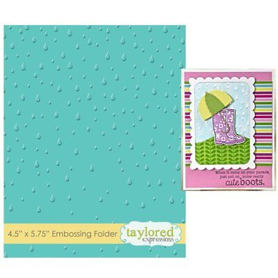 Taylored Expressions Embossing Folder - RAINDROPS - TEEF13