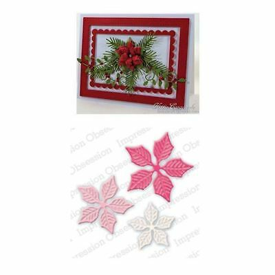 Impression Obsession Dies - Small Poinsettia Set DIE322-J
