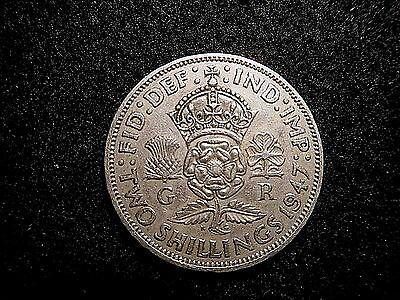 1947 TWO SHILLINGS 1 nice coin  Take a look