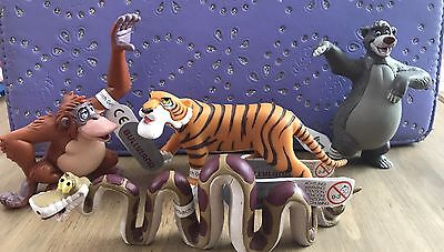 Disney Bullyland Jungle Book Set Of Figurines/cake Toppers FREE POSTAGE