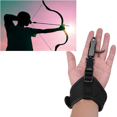 Right Hand Adjustable Arrow Release Aid Hard Core Trigger Hunting Recurve Bow SP